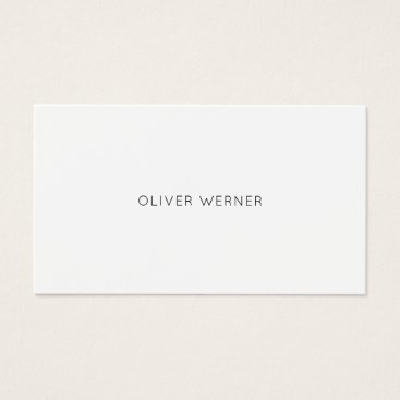 mixedworld minimal of the minimalist elegant white business card