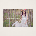 Minimal Overlay | Photography Business Cards<br><div class='desc'>Photographs provided courtesy of &#169;Blush Photography    For more colors and styles visit our shop!</div>