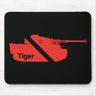 Minimal Panzerkampfwagen VI, red - black Mouse Pad
