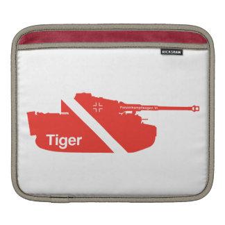 Minimal Panzerkampfwagen VI white - red iPad Sleeves