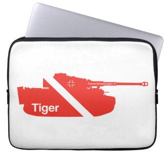 Minimal Panzerkampfwagen VI white - red Laptop Computer Sleeves