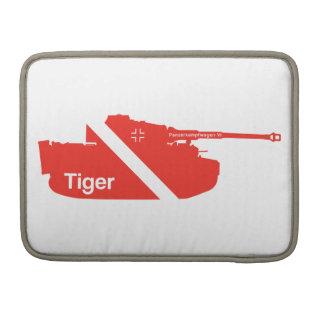 Minimal Panzerkampfwagen VI white - red Sleeves For MacBooks