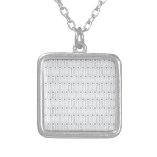 Minimal Pattern Silver Plated Necklace
