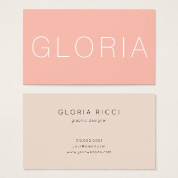 Professional Business Minimal Peach Beige Business Card