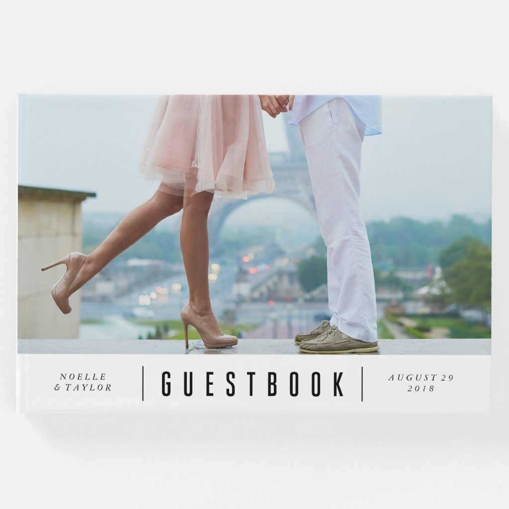 Minimal Photo Wedding Guest Book