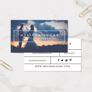 Minimal Photography Business Cards