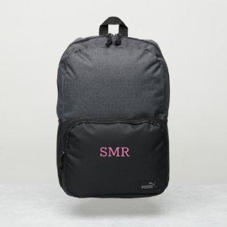 Minimal Pink Monogram Puma Backpack