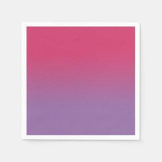 Minimal Pink Purple Gradient Napkins