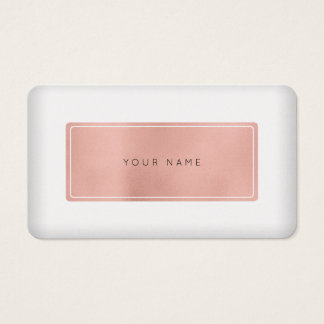 Minimal Pink Rose Gold Pearl White Vip Business Card