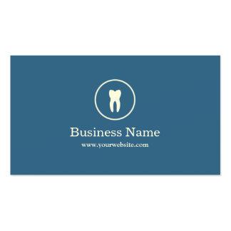 Minimal Plain Blue Dental Business Card