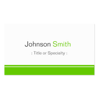 Minimal Plain in Clean Mint Green Business Cards