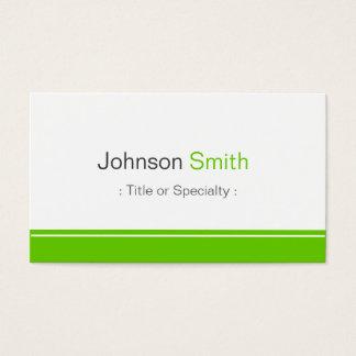 Minimal Plain in Clean Mint Green Business Card