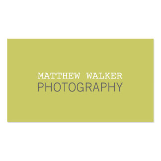 MINIMAL plain modern smart chartreuse green grey Double-Sided Standard Business Cards (Pack Of 100)