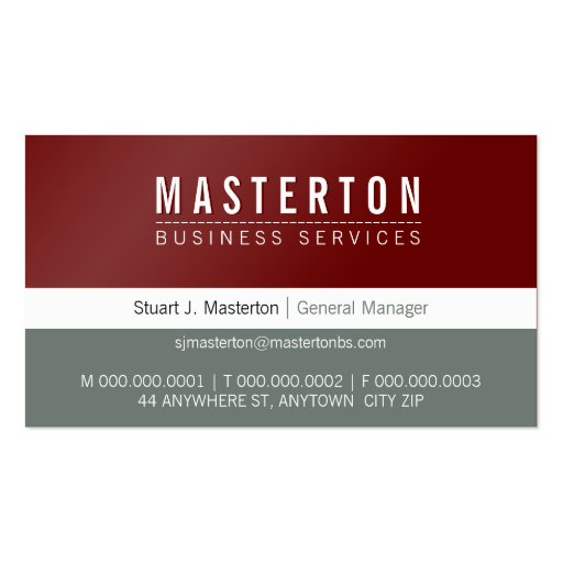 MINIMAL plain simple corporate maroon red grey Business Card Templates