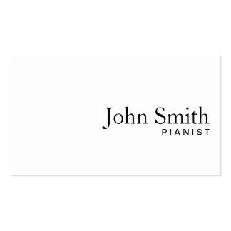 Minimal Plain White Pianist Business Card