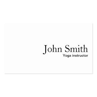 Minimal Plain White Yoga instructor Business Card