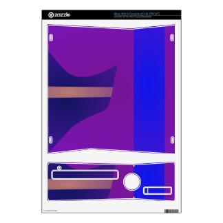 Minimal Purple Space Xbox 360 S Console Skins