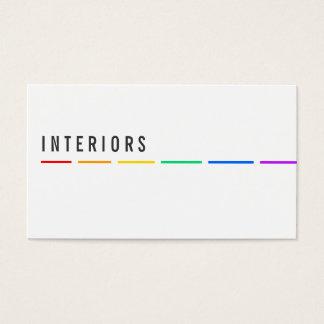 Minimal Rainbow businesscards Business Card