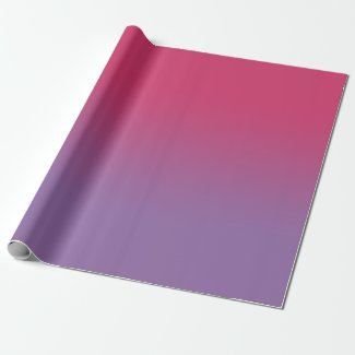 Minimal Raspberry Pink to Purple Gradient Wrapping Paper