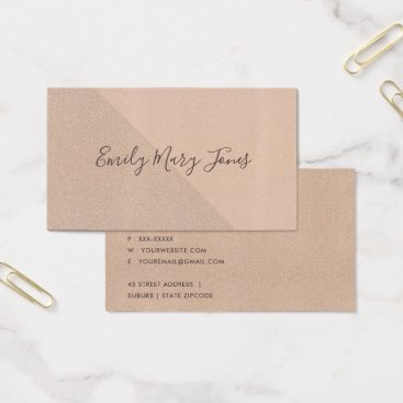 Professional Business MINIMAL ROSE GOLD SHIMMER TRIANGLE GEOMETRIC BUSINESS CARD