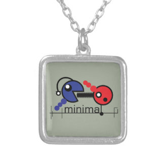 minimal silver plated necklace
