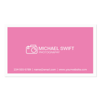 Minimal Simple Chic Baby Pink Photography Showcase Business Card
