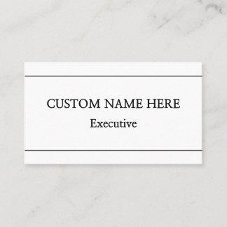 Minimal & Simple Professional Business Card