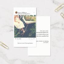 Minimal Social Media Photography Business Cards