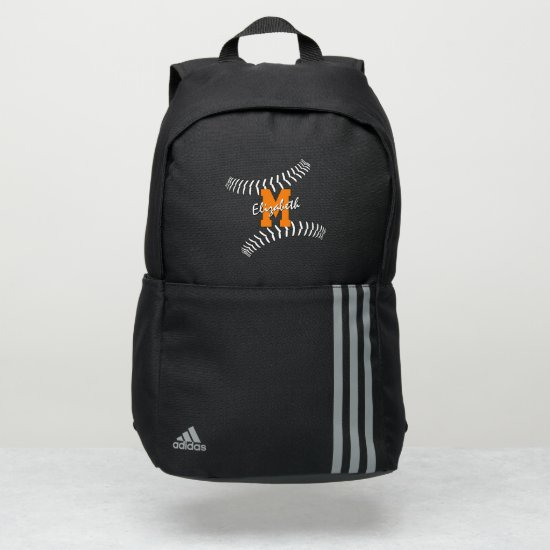 minimal sports monogrammed baseball softball adidas backpack