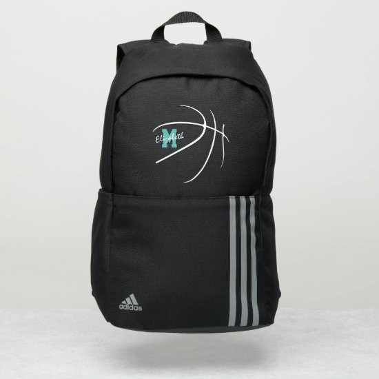 minimal sports monogrammed basketball adidas backpack