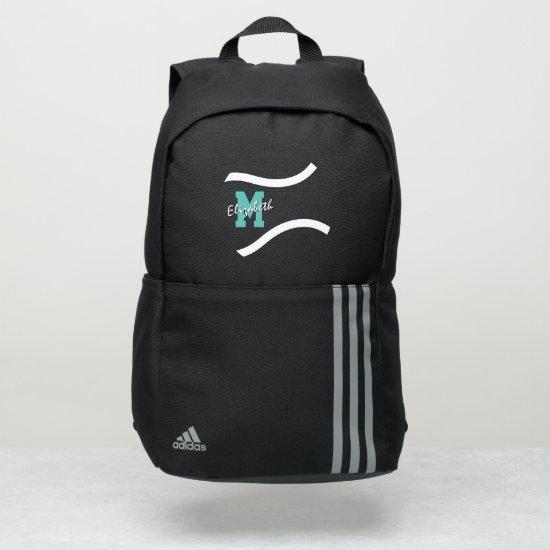 minimal sports monogrammed tennis adidas backpack