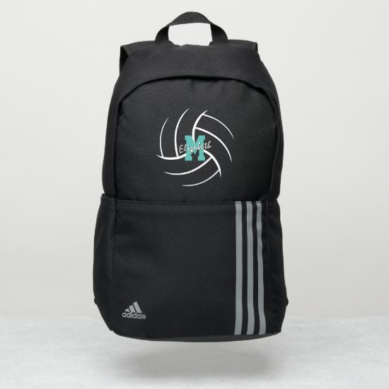 minimal sports monogrammed volleyball adidas backpack