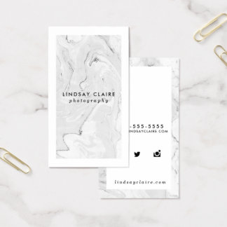 Minimal Stylish Marble Business Cards