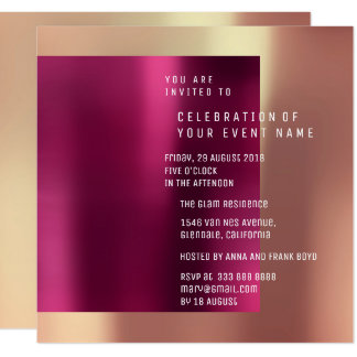 Minimal Suprise Party Copper Rose Metallic Card