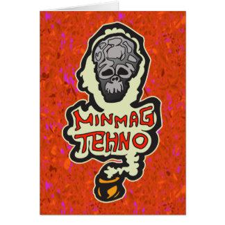 Minimal Techno Music Dance Card