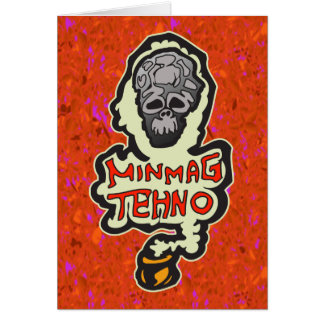 Minimal Techno Music Dance Cards