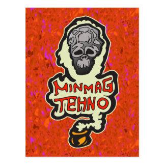 Minimal Techno Music Dance Postcard
