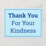 """[ Thumbnail: Minimal """"Thank You For Your Kindness"""" Postcard ]"""