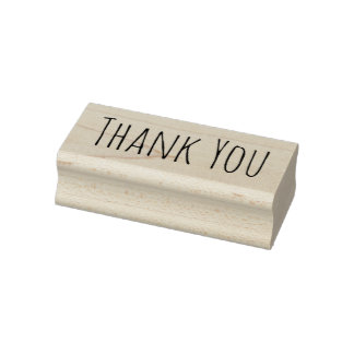 Minimal Thank You Rubber Stamp