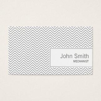 Minimal Thin Zigzag Mechanic Business Card
