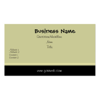 Minimal Traditional Black Swash Edge Double-Sided Standard Business Cards (Pack Of 100)