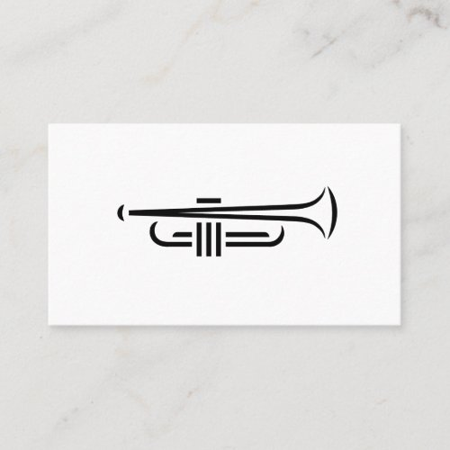 Minimal Trumpet Logo Business Cards