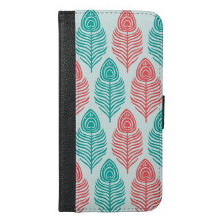 Minimal Two-tone feathers iPhone 6/6s Wallet Case
