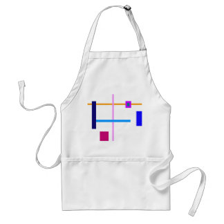 Minimal Vertical and Horizontal Lines Adult Apron