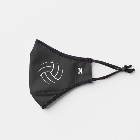 Minimal volleyball monogrammed premium face mask