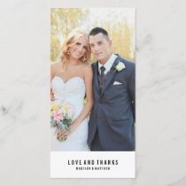 Minimal | Wedding Thank You Photo Card