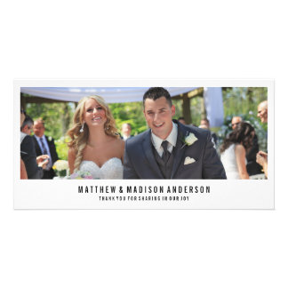 Minimal | Wedding Thank You Photo Card