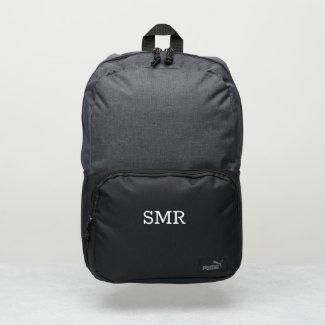 Minimal White Monogram Puma Backpack