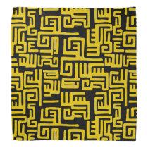 Minimal Yellow Black African Tribal Pattern Bandana