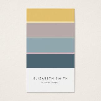 Minimal Yellow mint nordic elegant modern design Business Card